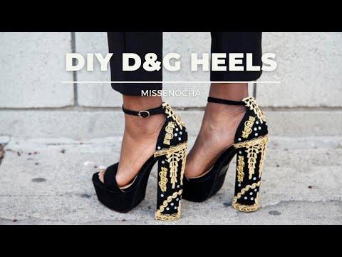 DIY: D\u0026G Embellished Heel - YouTube