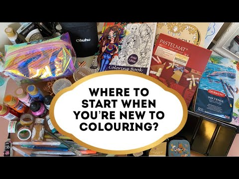 ADULT COLOURING! Where To Start?! Colouring Books, Pencils And More!