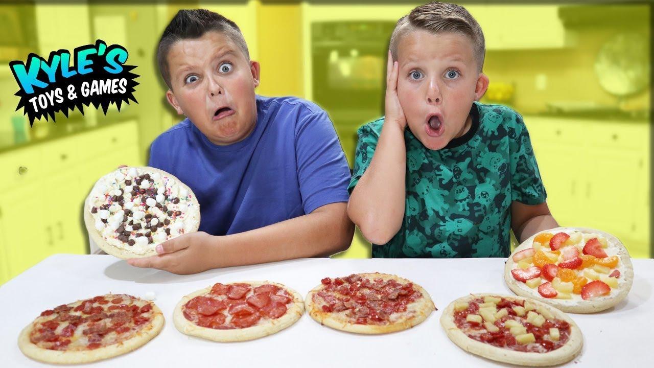 Mini Real Food Pizza Vs Mini Chocolate Candy Pizza Food