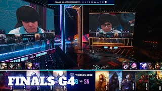 DWG vs SN - Game 4 | Grand Finals S10 LoL Worlds 2020 PlayOffs | DAMWON Gaming vs Suning G4 full