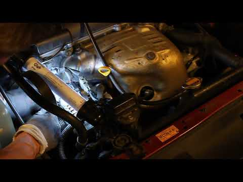 How to change multi belt on Toyota Avensis 2001 Part 1.