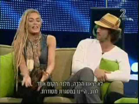 Emilia Attías Y Mariano Torre Con Avri Gilad Programa De TV En Israel  - 2009