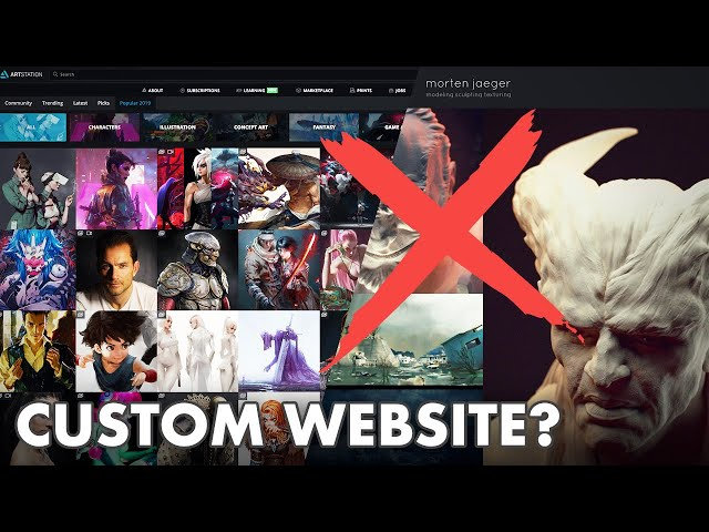You Don't Need a Custom Website for your Art Portfolio