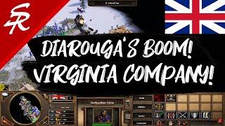 Virginia Company Boom! Diarouga's Build!! | Strategy School | Age of Empires III