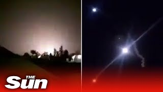 Iran TV shows missiles apparently fired at US al-Asad air base in Iraq