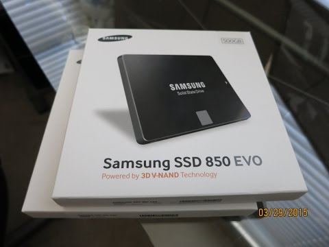 Samsung 850 Evo SSD  Install And Review