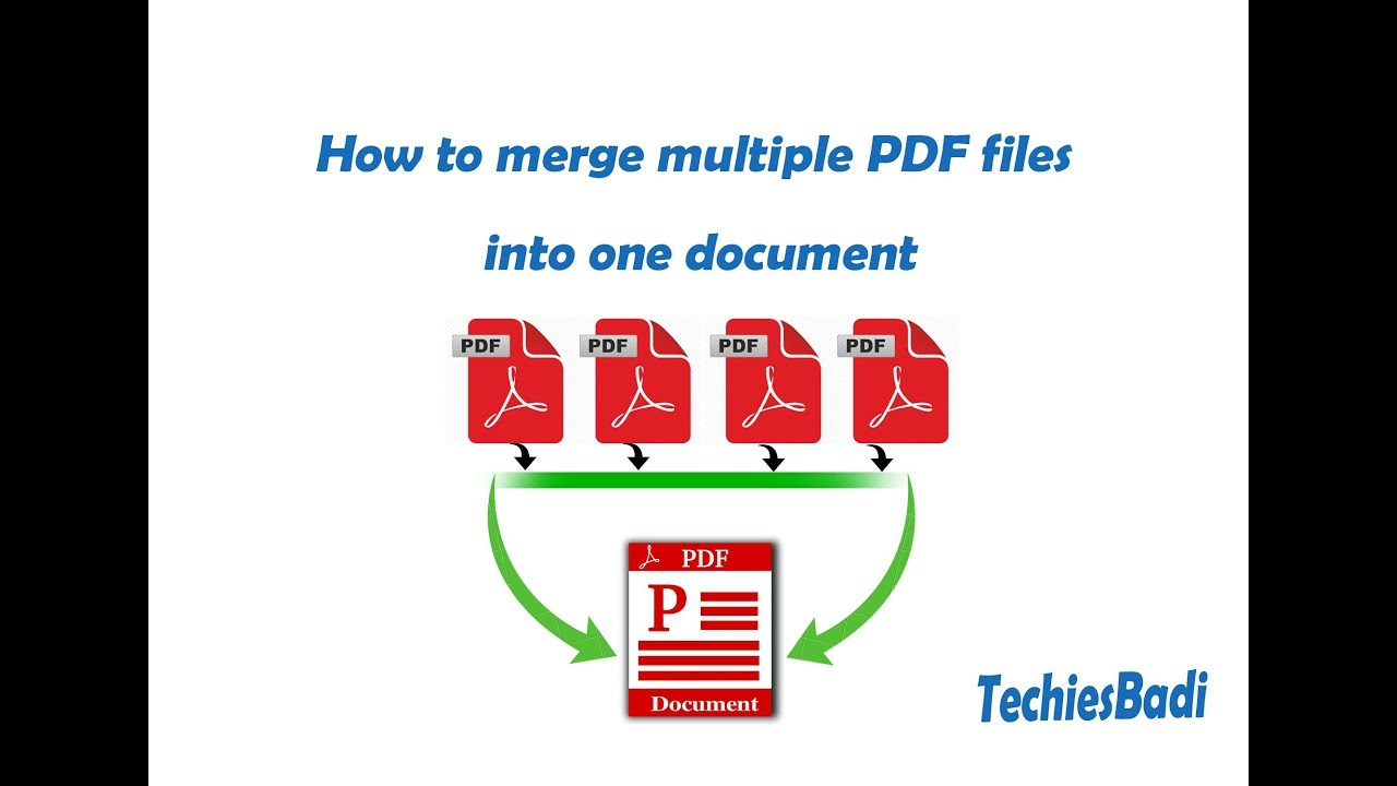 How to merge multiple PDF files into one document - YouTube