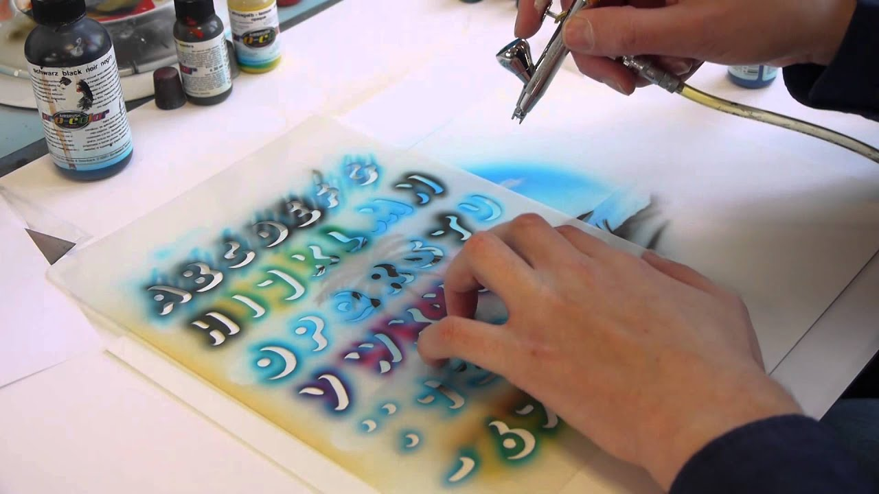 how to set up an airbrush