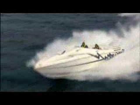 Cigarette Offshore Boat Jump