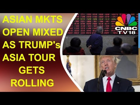 Asian Markets Open Mixed | President Trump's Asia Tour Begins | Power Breakfast | CNBC TTV18