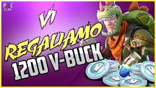 Gameplay ITA Live Fortnite. Primo Contest Ufficiale, Regaliamo 1200 V-Bucks!!!!!!