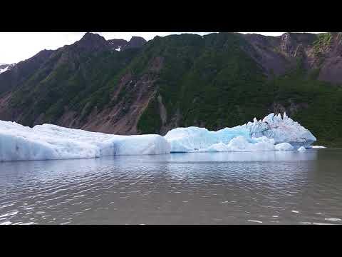 Kachemak Bay State Park, Stand Up Paddleboarding on Grewingk Glacier Lake, near Homer, Alaska