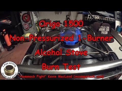 Origo 1500 Non-Pressurized 1-Burner Alcohol Stove - Burn