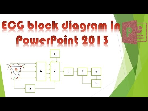powerpoint tutorial: how to draw ecg block diagram in powerpoint - youtube