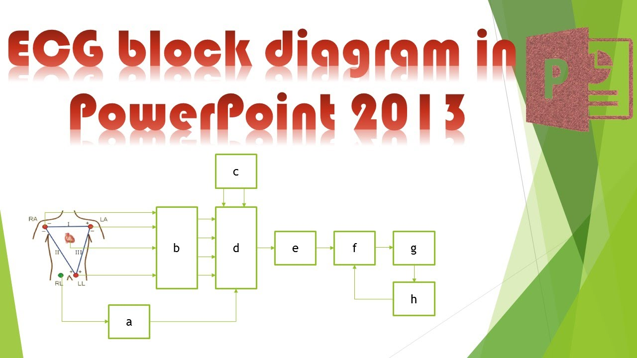 Powerpoint Tutorial  How To Draw Ecg Block Diagram In Powerpoint