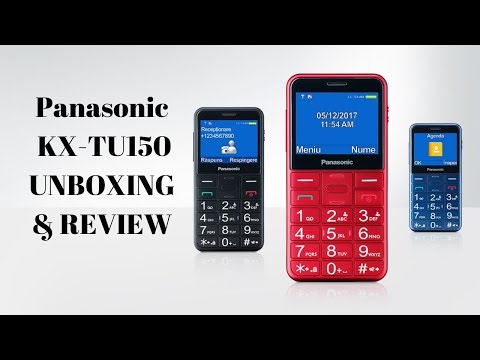 Panasonic Senior Feature Phone (For Elderly) KX-TU150 UNBOXING & REVIEW