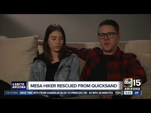 Mesa hiker talks about Utah quicksand rescue