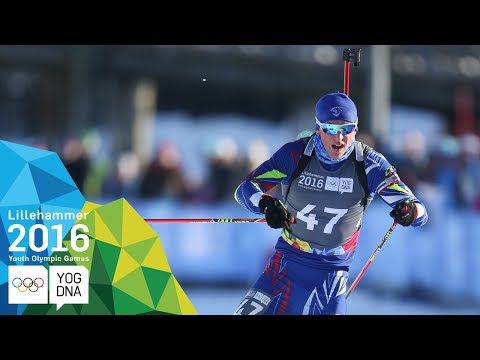 Biathlon 7.5km Sprint - Emilien Claude (FRA) wins gold | ​Lillehammer 2016 ​Youth Olympic Games​