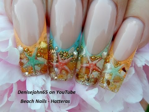 """ starfish ocean pearl nails"