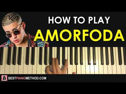 HOW TO PLAY - Bad Bunny - Amorfoda (Piano Tutorial Lesson)