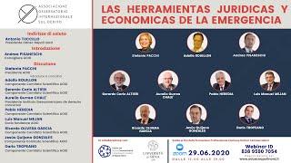 La herramientas jurídicas y económicas de la emergencia