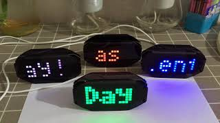 DIY Black Digital LED Mirror Clock Matrix Desktop Alarm Clock Electronic Learning Kit Module