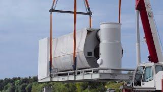Крышная газовая котельная на котлах Viessmann Vitoplex 100