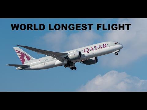 World's Longest Commercial Flight QATAR Doha To Auckland( NEW ZEALAND)