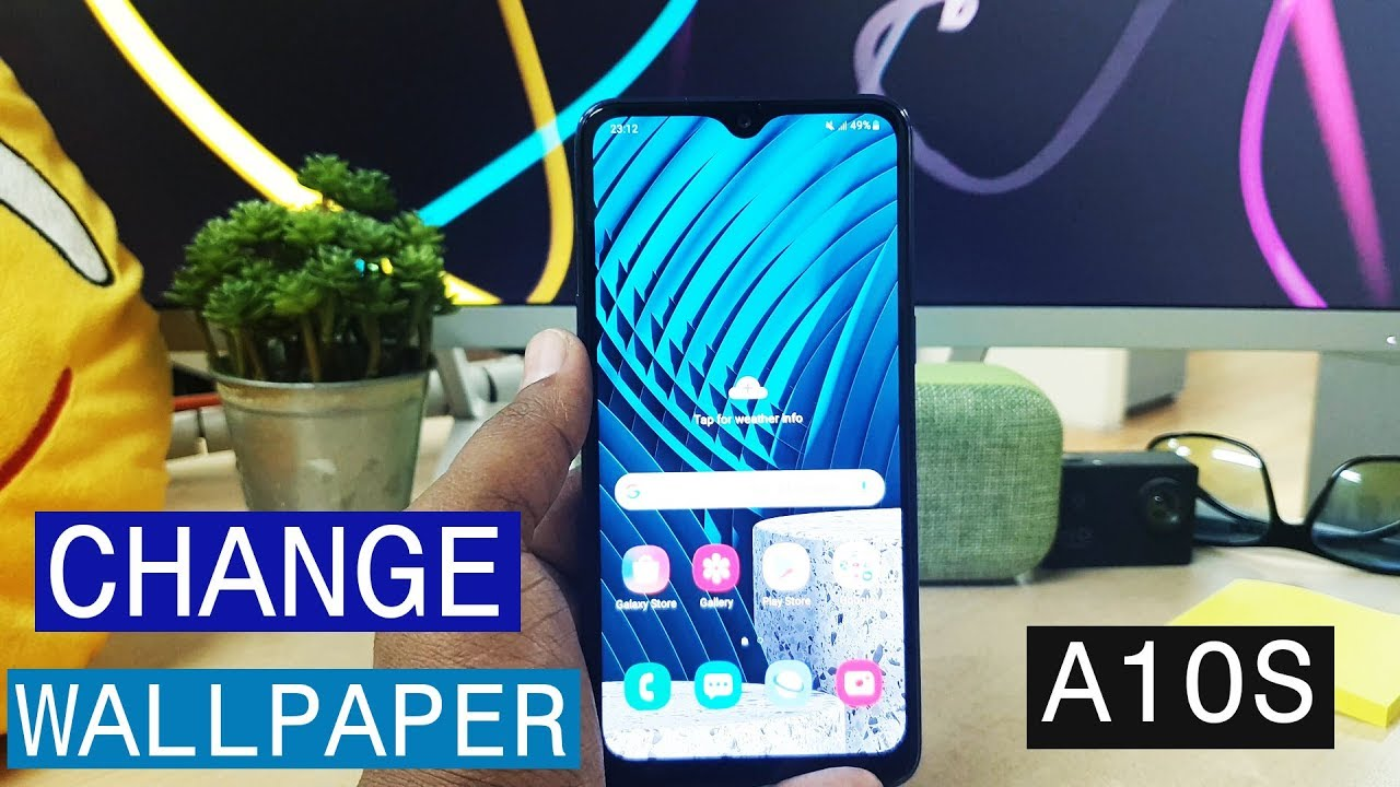 How To Change Wallpaper In Samsung Galaxy A10s Youtube