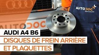 Montage Plaquettes de Frein arrière et avant AUDI A4 (8E2, B6) : vidéo gratuit