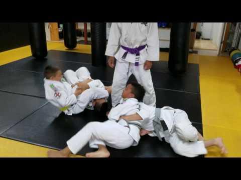 Kids BJJ sparring