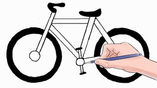 How to Draw a Bicycle Easy Step by Step