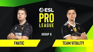CS:GO - Fnatic vs. Team Vitality [Mirage] Map 2 - Group B - ESL EU Pro League Season 10