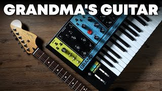 Running my guitar through the Moog Grandmother synth