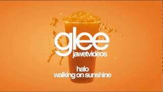 Glee Cast - Halo/Walking on Sunshine (karaoke version)