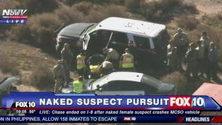 WOW: Naked Woman in CUSTODY After Stealing Sheriff's Vehicle and Leading Police Chase -FNN