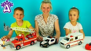 Машинки для детей  Playmobil Игрушки Для Детей Распаковка Unboxing toys Playmobil for children