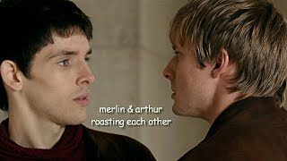 merlin & arthur roasting each other for 9 minutes straight