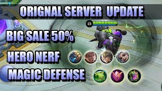 ORIGINAL SERVER UPDATE  - PATCH NOTES 1.4.20