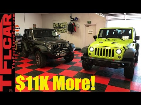 2017 Jeep Wrangler Rubicon Vs Sport Mashup Review Is The Worth 11k More