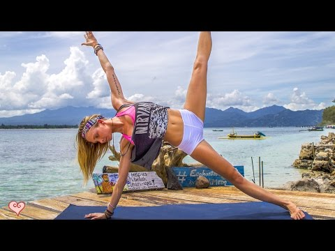 Yoga Workout ♥ Tone Your Tummy & Strengthen Your Core | Gili Meno