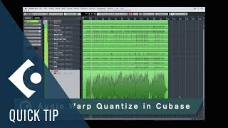 Cubase Quick Tips - Audio Warp Quantize