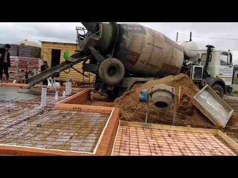 05-Заливаем монолитную плиту по ленточному фундаменту