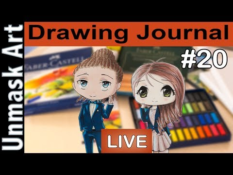 """Draw with Us: Anna's First Pastel Experience"" Drawing Journal LIVE #20"