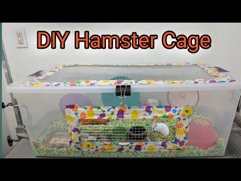 Making a diy hamster cage bin cage doovi for Hamster bin cage tutorial