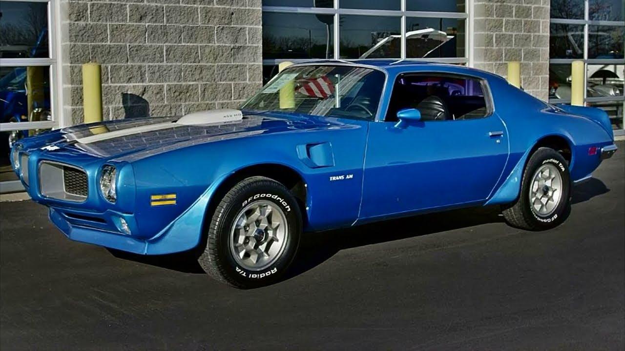 1972 Pontiac Trans Am 455 HO Four-Speed Muscle Car - YouTube