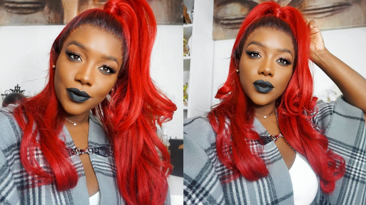 Bright Red Hair Color For Darkskin Black Women Ft Ygwigs