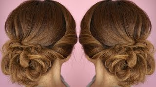 Easy Summer Twist Updo Hair Tutorial