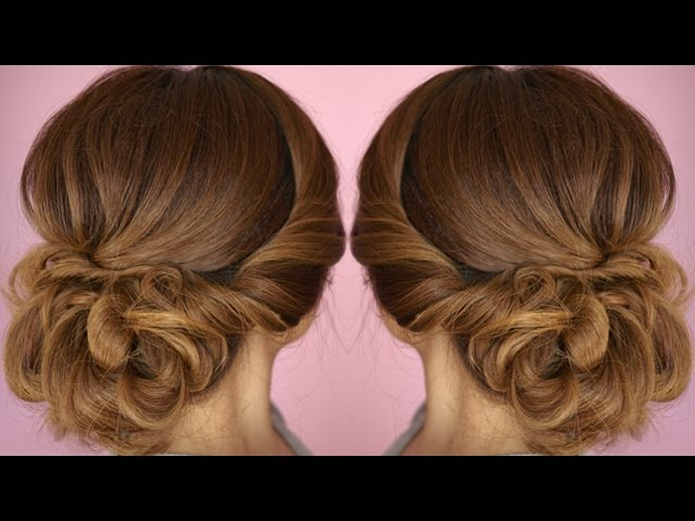 Easy Summer Twist Updo Hair Tutorial