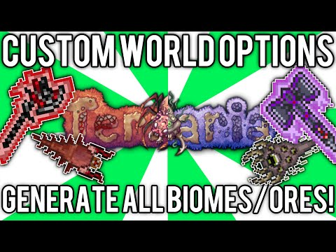 TerraCustom World Generator Tool (Both Crimson & Corruption, All Hardmode Ores, & More!) // demize